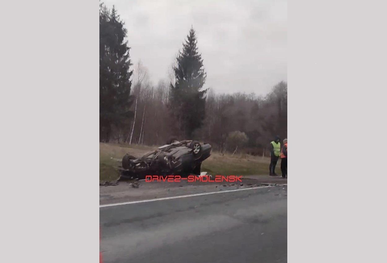66-летний водитель пострадал в ДТП с участием фуры в Смоленской области