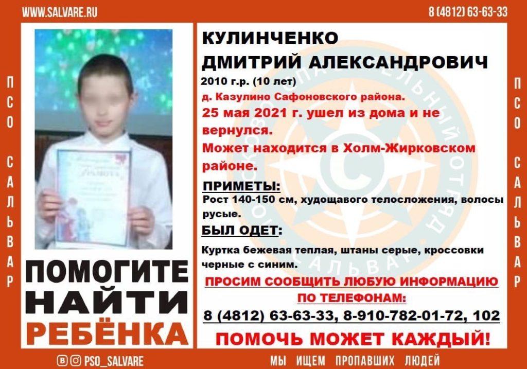В Смоленской области пропал 10-летний ребенок